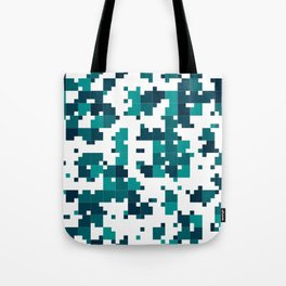 Take me to the bottom of the ocean - Random Pixel Pattern in shades of blue green Tote Bag