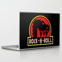 rock n roll Laptop & iPad Skins featuring Rock n Roll lives! by Los Espada Art