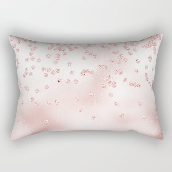 Princess Confetti Glitter on pink metal background #Society6 Rectangular Pillow