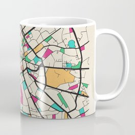 Colorful City Maps: Manchester, England Coffee Mug