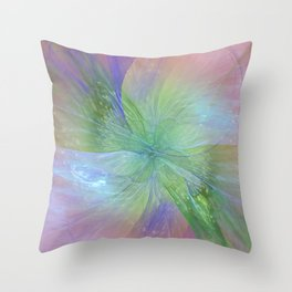 Mystic Warmth Abstract Fractal Throw Pillow