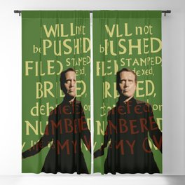 The Prisoner - I Will Not be Pushed Blackout Curtain