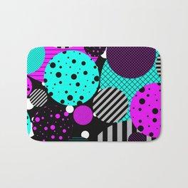Circles, Bubbles And Stripes Bath Mat