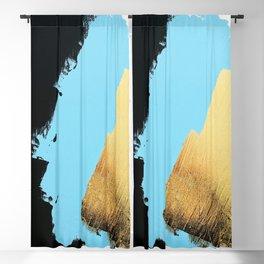 Black, Blue, Gold Blackout Curtain