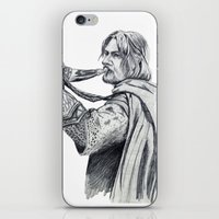 gondor iPhone & iPod Skins featuring The Horn of Gondor by Christine Margeson