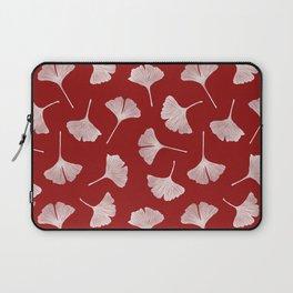 Ginkgo Biloba | Fiery Red Background Laptop Sleeve