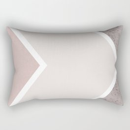 DARK BLUSH GRAY CONCRETE CHEVRON Rectangular Pillow