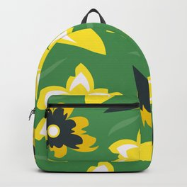 pattern with flowers and leaves Backpack
