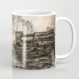 Poltery Site (Wood Storage Area) After Storm Victoria Möhne Forest sepia Coffee Mug
