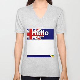 Hello I am from Turks and Caicos Islands Unisex V-Neck