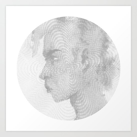 100 Circles #2 Art Print