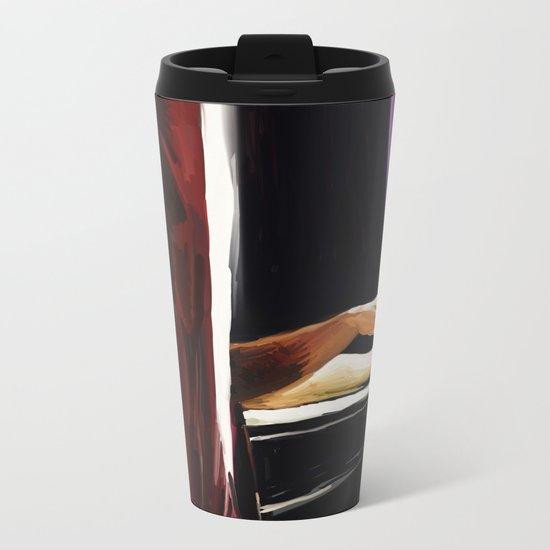 Smoking in the bathtub Metal Travel Mug