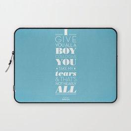 One Hit Wonder- Tainted Love in Teardrop Blue Laptop Sleeve
