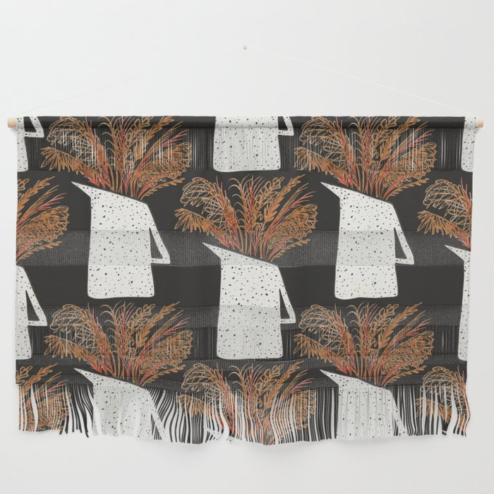 Autumn Still Life with Pampas Grass Wall Hanging