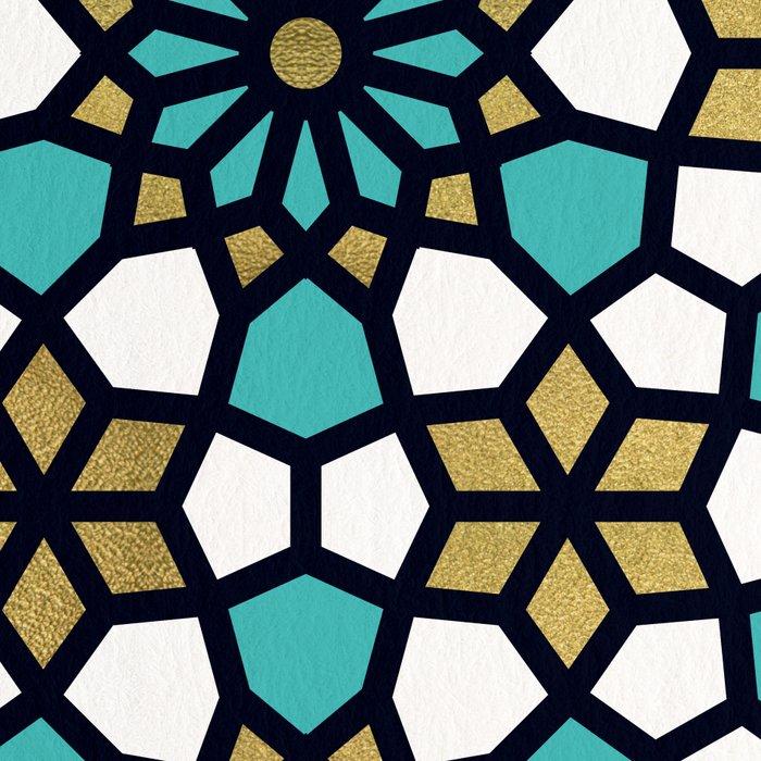 Persian Mosaic – Turquoise & Gold Palette Leggings