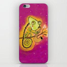 Chameleon in love iPhone Skin