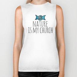 Nature is my Church Biker Tank
