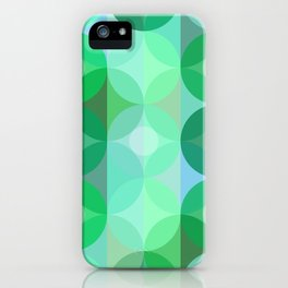 Layered Circles Geometric Pattern - Green iPhone Case