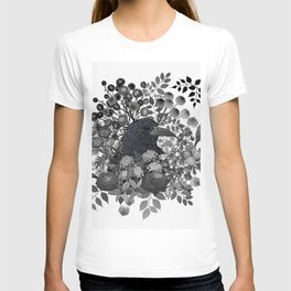 Raven in the Garden of Departed Botanicals T-shirt