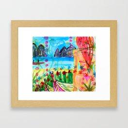 Koh pipi island in Thailand Framed Art Print
