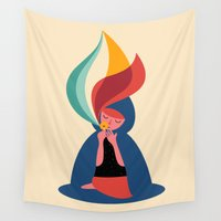 marc Wall Tapestries featuring Wish by Andy Westface