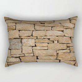 Brown brick Rectangular Pillow