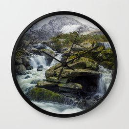 Snow Covered Tryfan Wall Clock