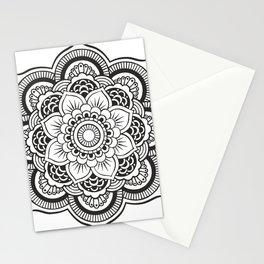 Mandala White & Black Stationery Cards