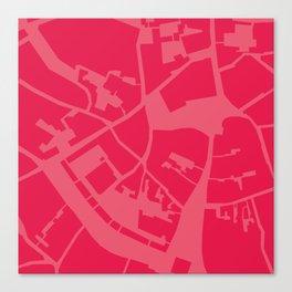 Vilnius map pink Canvas Print