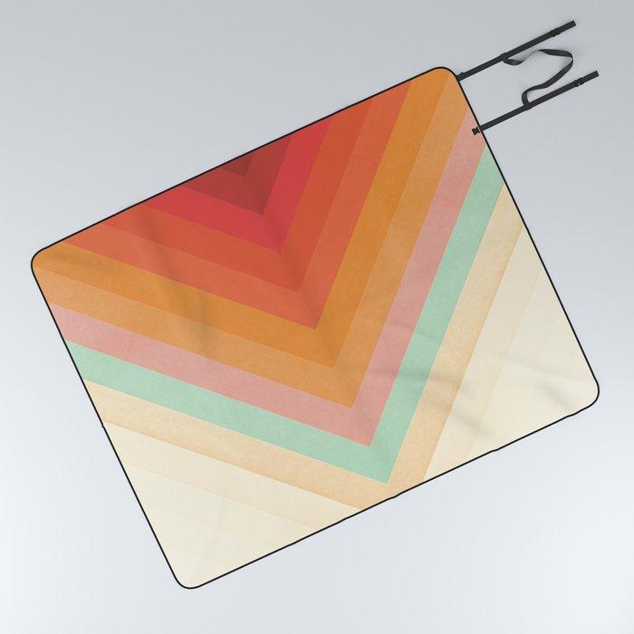 Rainbow Chevrons Picnic Blanket