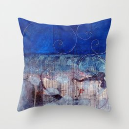 Chicxulub - Bluer version Throw Pillow
