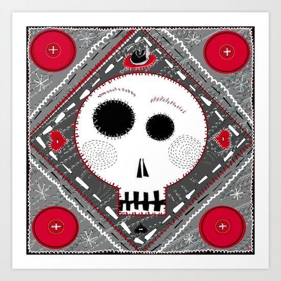 All stitched up Art Print