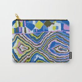 Abstract Tribal Rug in Royal Blue Carry-All Pouch