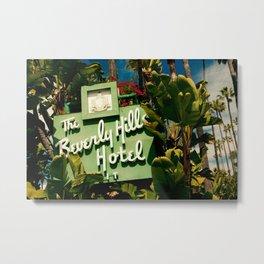 Classy Beverly Hills Hotel Mid Century Modern Neon Sign Metal Print