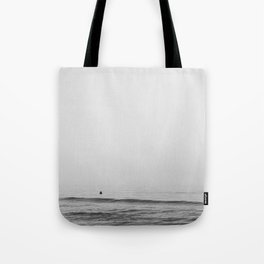 Surfers - Black and White Ocean Photography Huntington Beach California Tote Bag