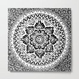 Yin Yang Mandala Pattern Metal Print