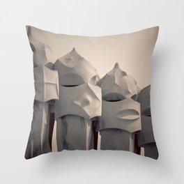 Gaudi's Chimneys Throw Pillow