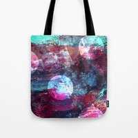 night sky Tote Bags featuring Night Sky by Marlidesigns