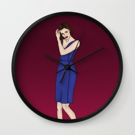 Dressed Up Simmons Wall Clock