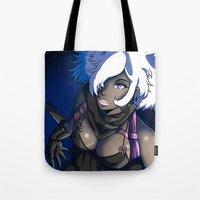 marc jacobs Tote Bags featuring Scarlet Jacobs by 121gigawatts