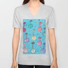 Flower Orbs Unisex V-Neck