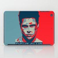 tyler durden iPad Cases featuring Tyler Durden by Jason Vaughan