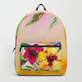 Tropical Summer Flowers 3 Backpack
