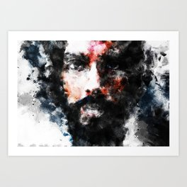 Abstract Face 06 Art Print