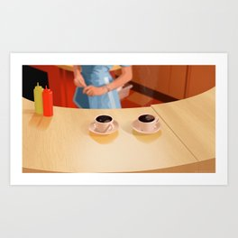 Coffee in Double R Dinner Art Print