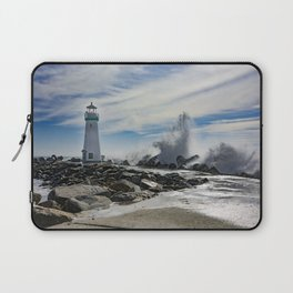 Walton Lighthouse Santa Cruz California Photography Laptop Sleeve