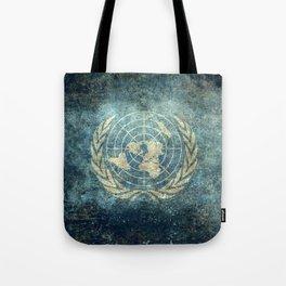 The United Nations Flag - Vintage version Tote Bag
