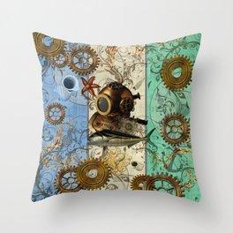 Nautical Steampunk Throw Pillow