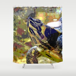 Turtle II Shower Curtain