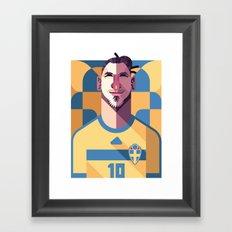 ZI10   Blågult Framed Art Print